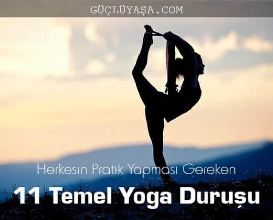 11 temel yoga duru u 550x444 - Herkesin Pratik Yapması Gereken 11 Temel Yoga Hareketi